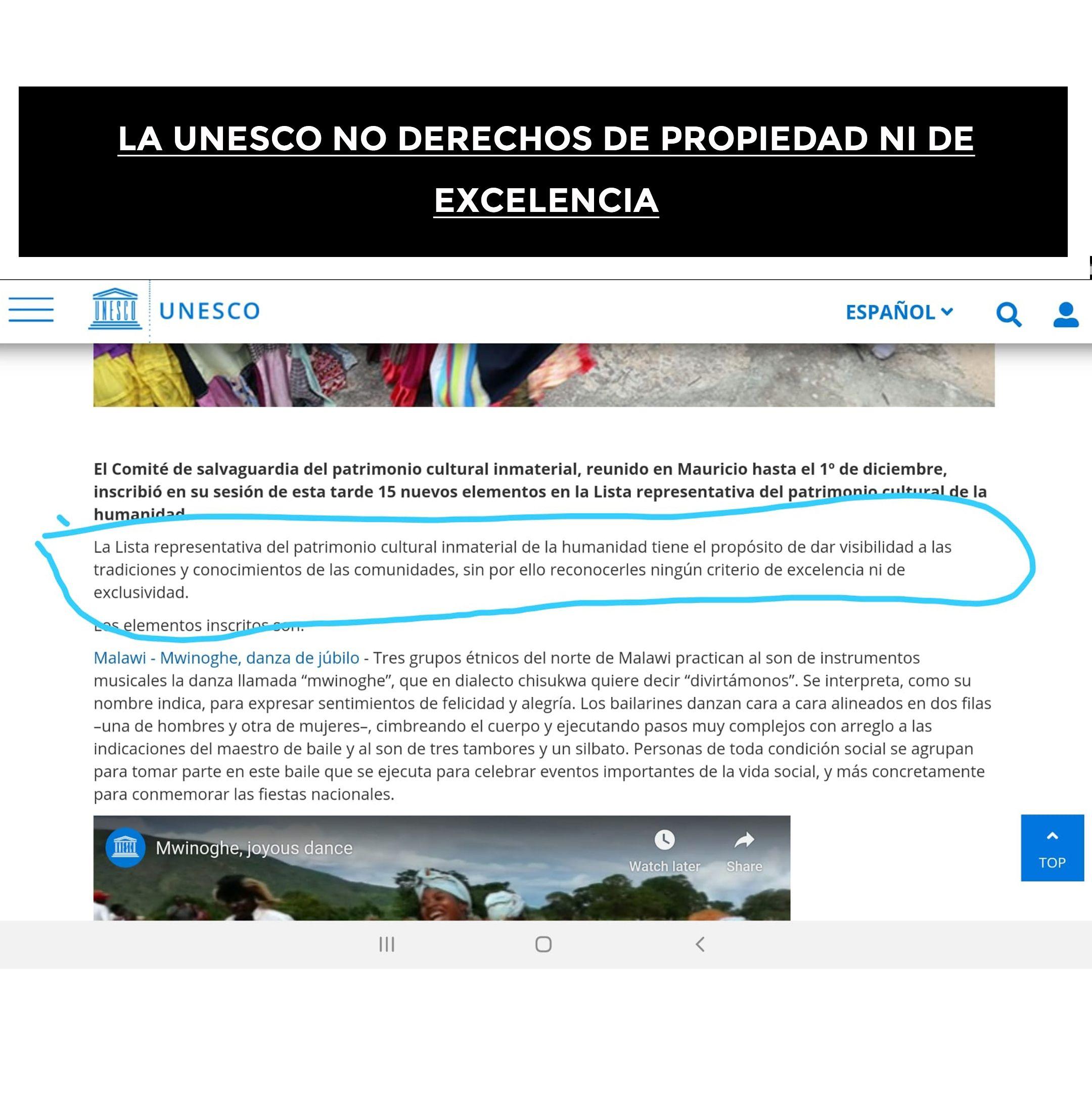 La Unesco No Da Derechos De Propiedad Ni De Excelencia In 2021