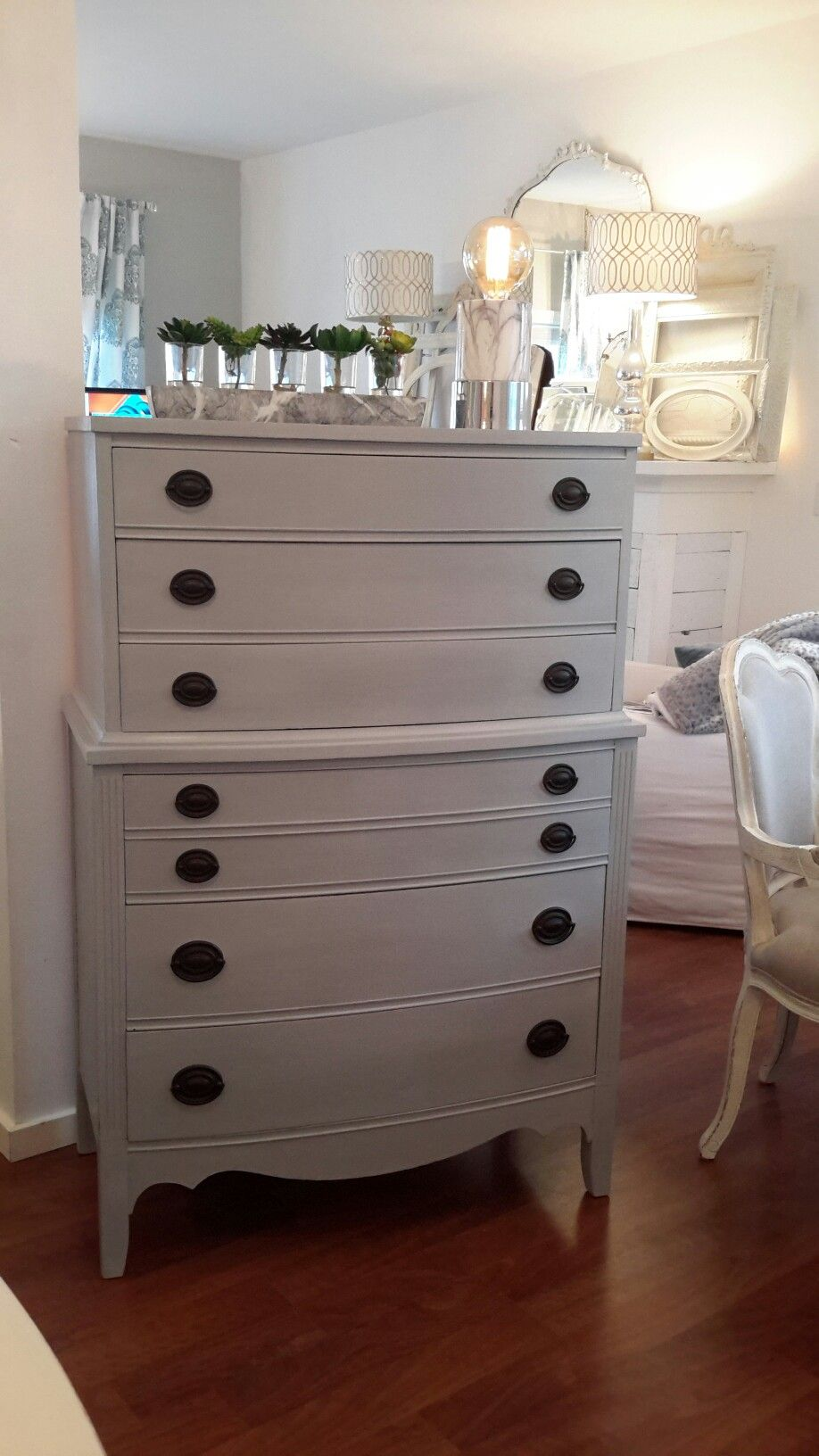 Paris Grey Annie Sloan Chalk Paint Highboy Dresser By Recherished Root S