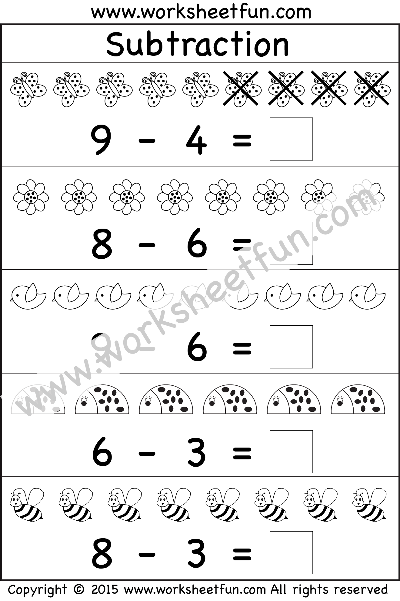 Kindergarten Subtraction With Images