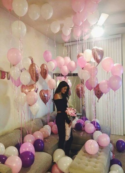 Birthday Surprise Ideas For Girlfriend Balloon Pictures 20