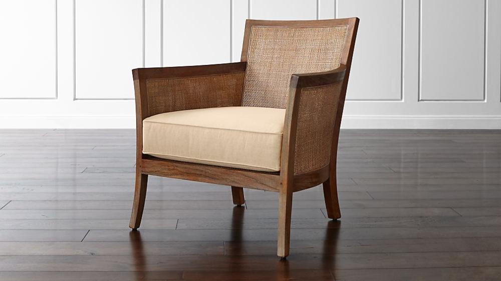 blake rattan arm chair with fabric cushion  reviews