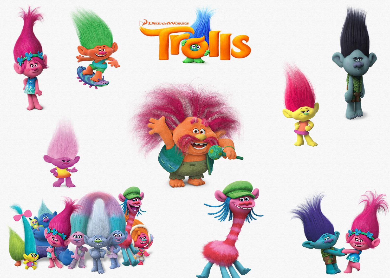 Trolls Movie Clipart 23 High Quality Png Images With Movie Clipart Clip Art Digital Clip Art