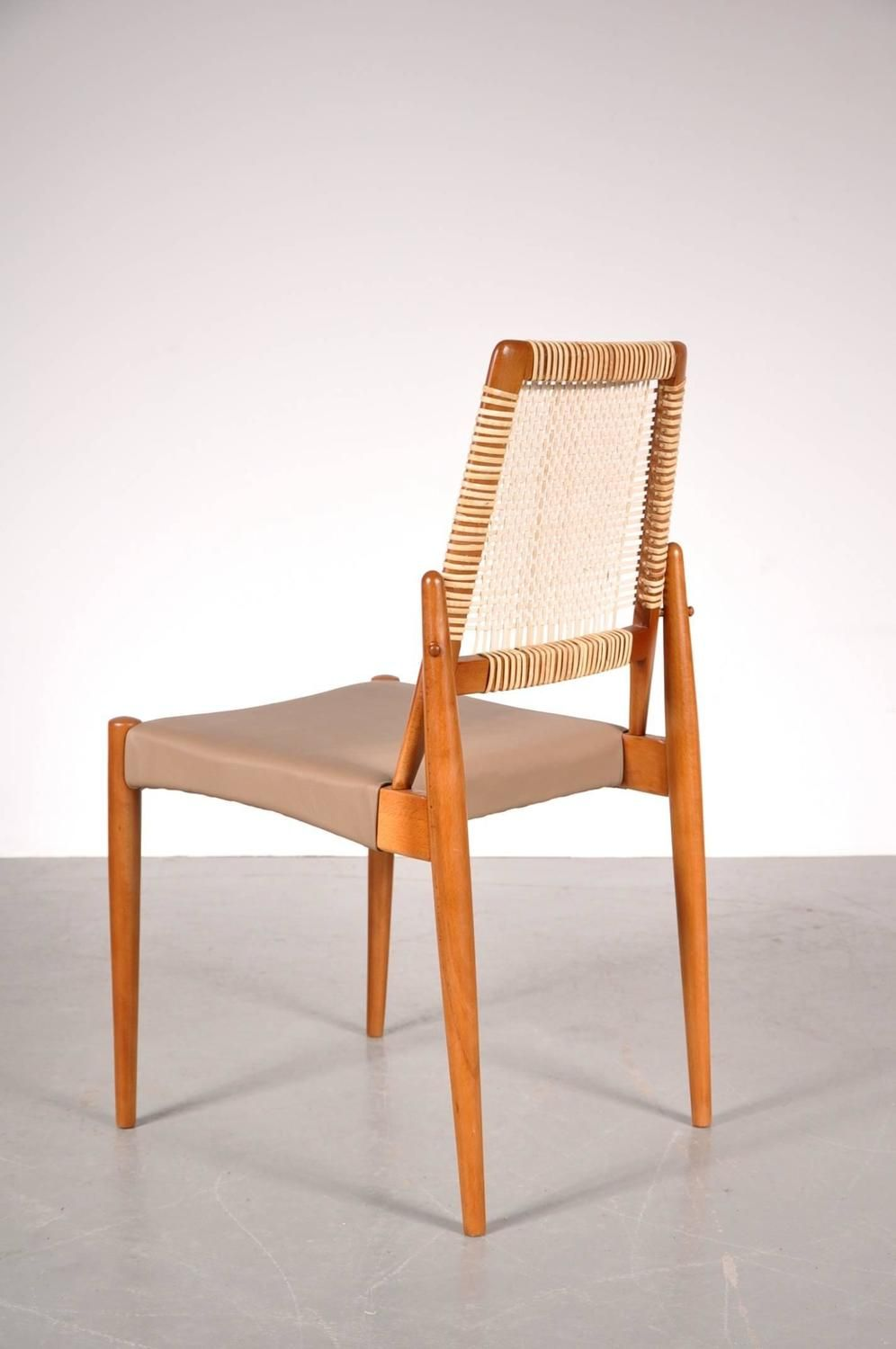 Set of Eight Dining Chairs by William Watting for Fristho Netherlands circa 1950 5