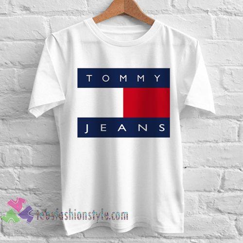 5d6824af Tommy jeans logo Hilfiger Tshirt shirt Tees Adult Unisex custom clothing  Size…