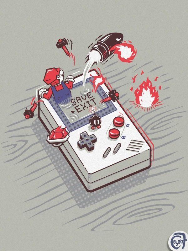 game boy #illustration | Illustration | Games, Video game ...