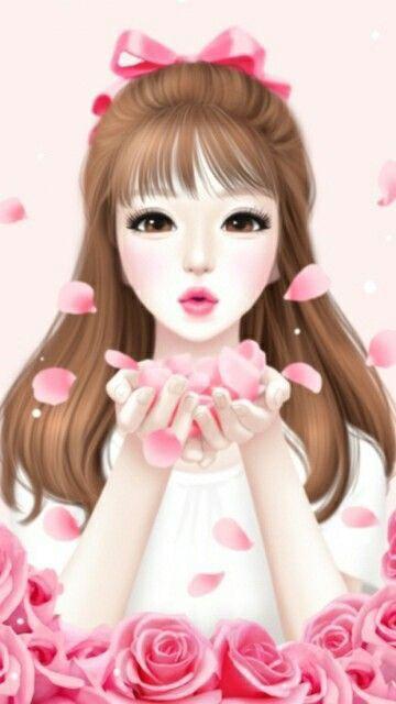 Asoplando Petalos De Amor Y Ternura O O Munecas Bonitas Dibujos De Chicas Muchacha De Arte Anime