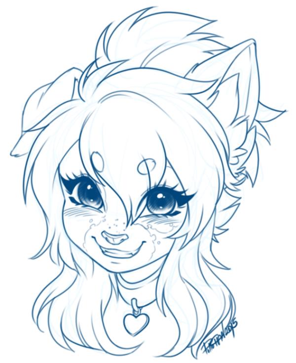 Photo of Cute furry girl sketch | Furries