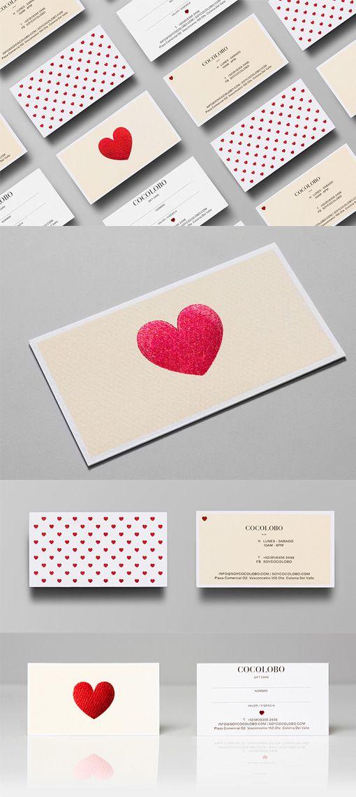 Elegant Red Foil Heart Business Card Design For A Fashion Boutique ...