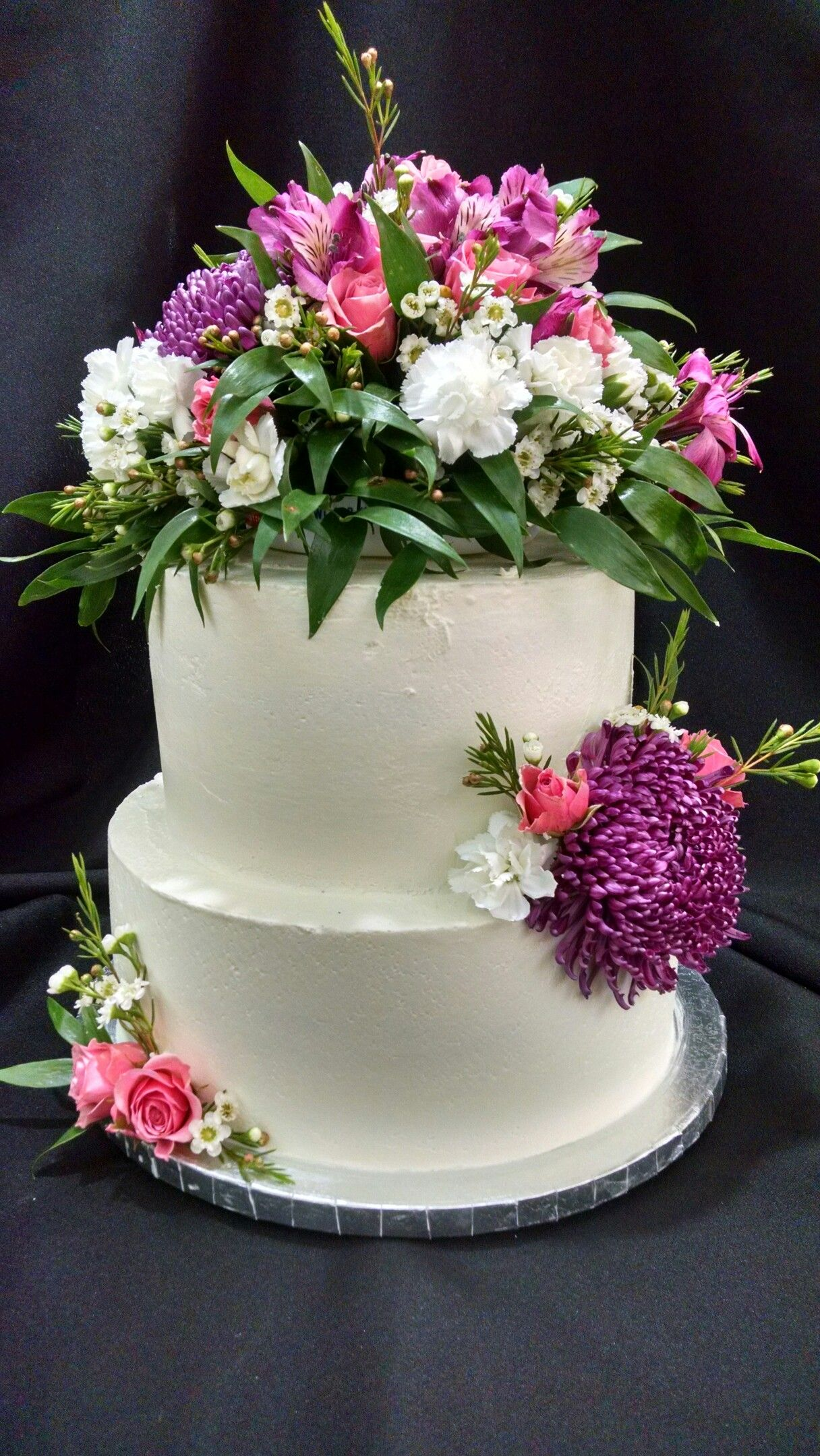 Happy Second Anniversary Ressi And Rick Cakes By Laura Llc
