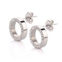 316L en acier inoxydable boucle d'oreille cristal boucles d'oreilles pour les femmes Joyas Brincos Bijoux boucles d'oreilles Bijoux Fashion(China (Mainland))