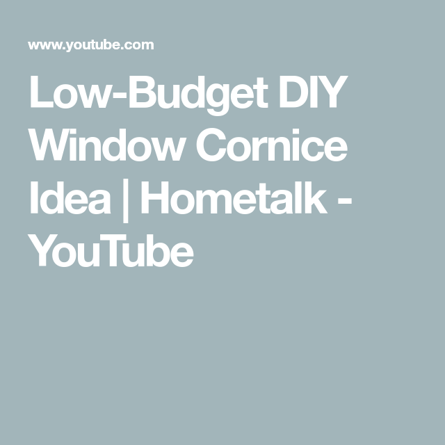 Low-Budget DIY Window Cornice Idea | Hometalk#cornice #diy #hometalk #idea #lowb...#cornice #diy #hometalk #hometalkcornice #idea #lowb #lowbudget #window