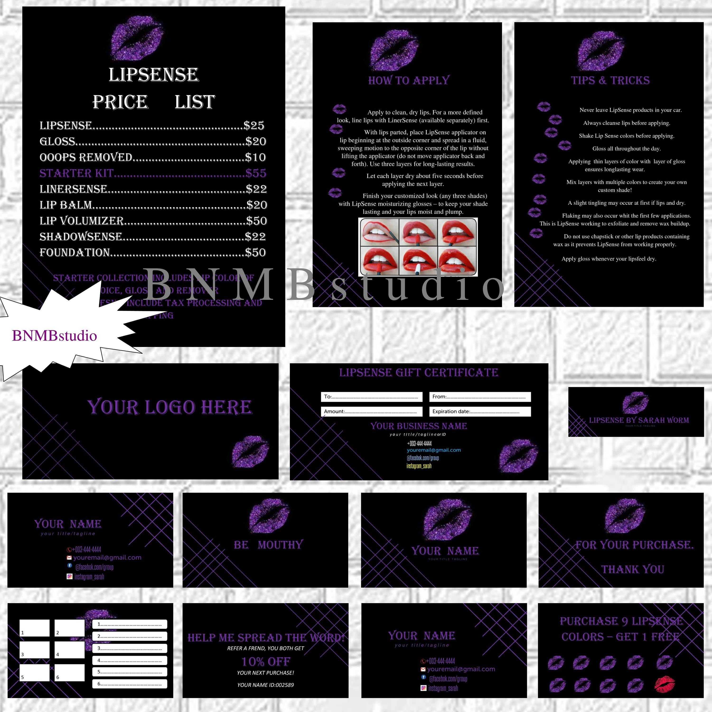 Lipsense bundle Lip sense business card Lipsense marketing Lipsense bisiness cards  Lipsense application Lipsense distributor Lipsense tips by BNMBstudio on Etsy