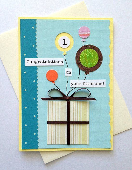 new baby handmade greeting card congratulations on your little one