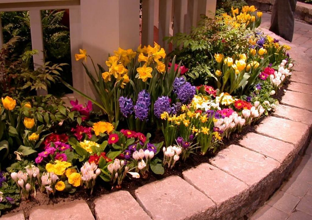 Best Ideas Utilize The Home Front Yard Properly So That House Looks More Beautiful Small Flower Gardens Flower Garden Design Flower Bed Designs