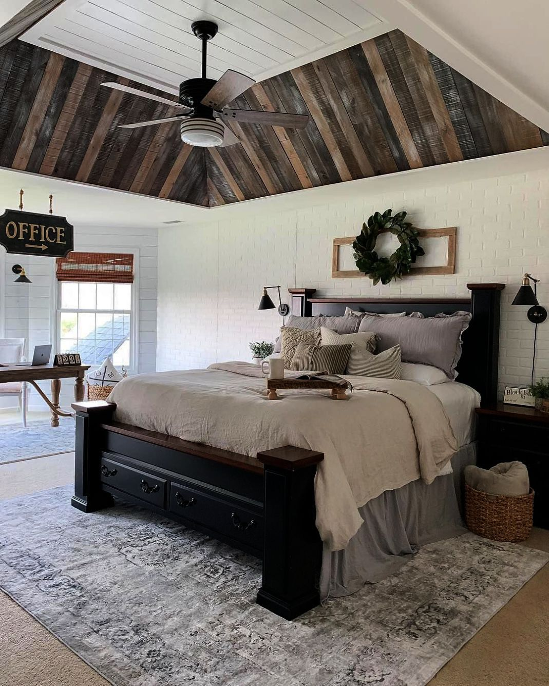 Global Furniture Qb Riley Tufted Bed Queen Silver The Furniture Blogger Rustic Master Bedroom Master Bedroom Makeover Farmhouse Bedroom Decor