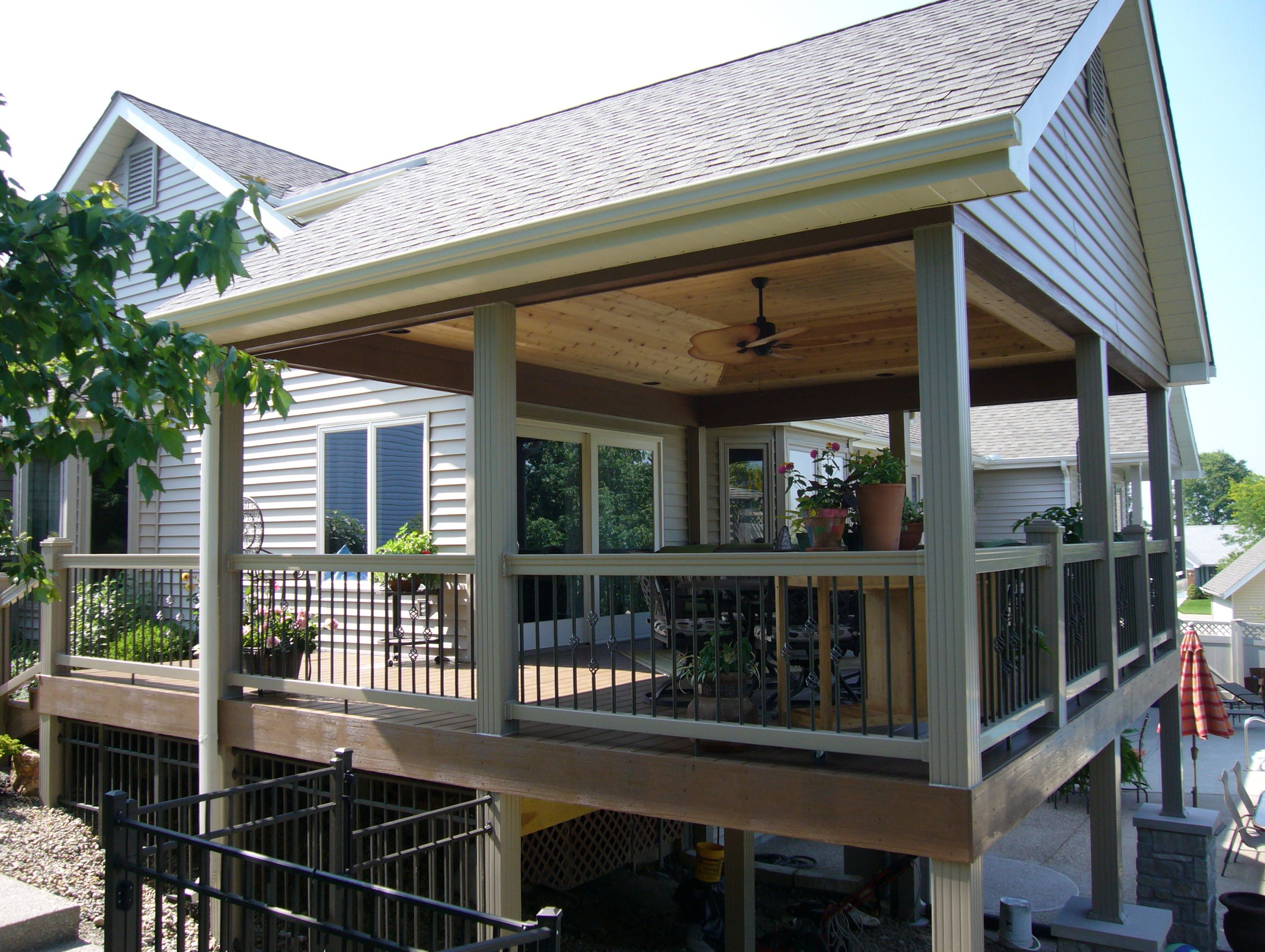 Outdoor Covered Deck Ideas Home Design Partially Small Elements And Style Designs Standalone Decks Plans Patio Deck Designs Deck Designs Backyard Covered Decks