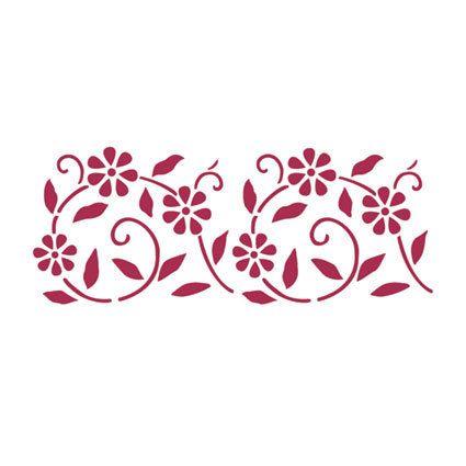 Ir a producto stencil pinterest productos cenefas y bordado - Dibujos de cenefas para pintar ...
