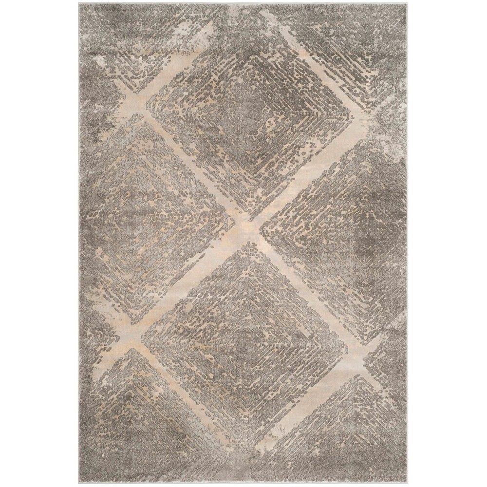 6 7 X9 Loomed Shapes Area Rug Taupe Safavieh With Images Abstract Rug