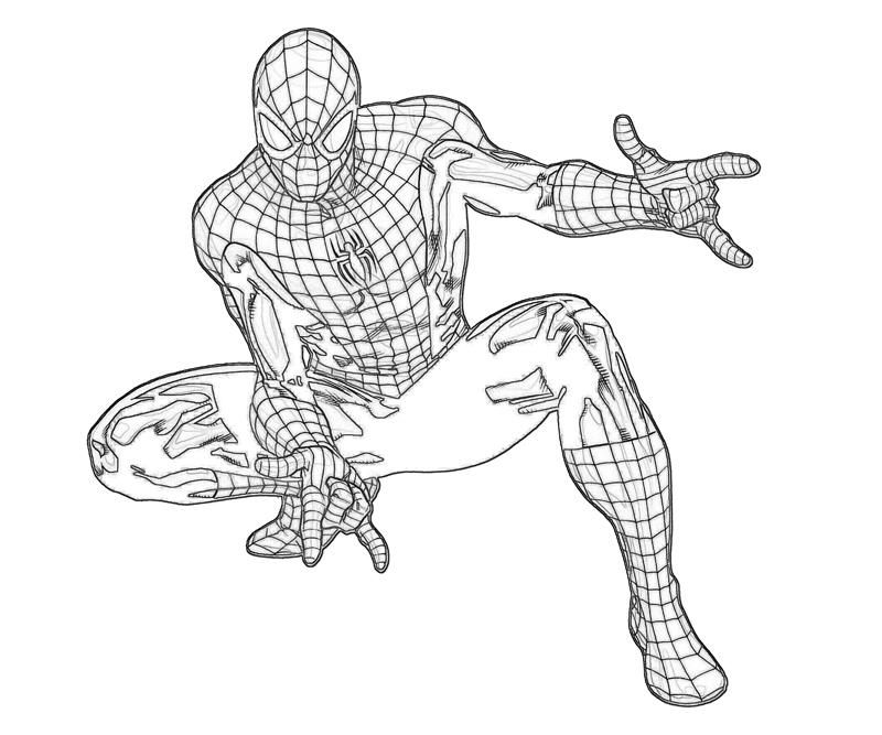 ultimate spiderman coloring pages: ultimate spiderman