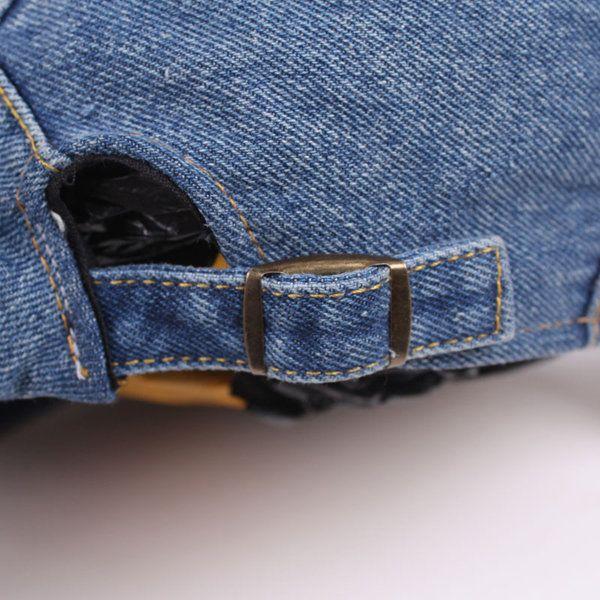 Unisex Denim Jeans Washed Zipper Pocket Decoration Newsboy Beret Hat Duckbill…
