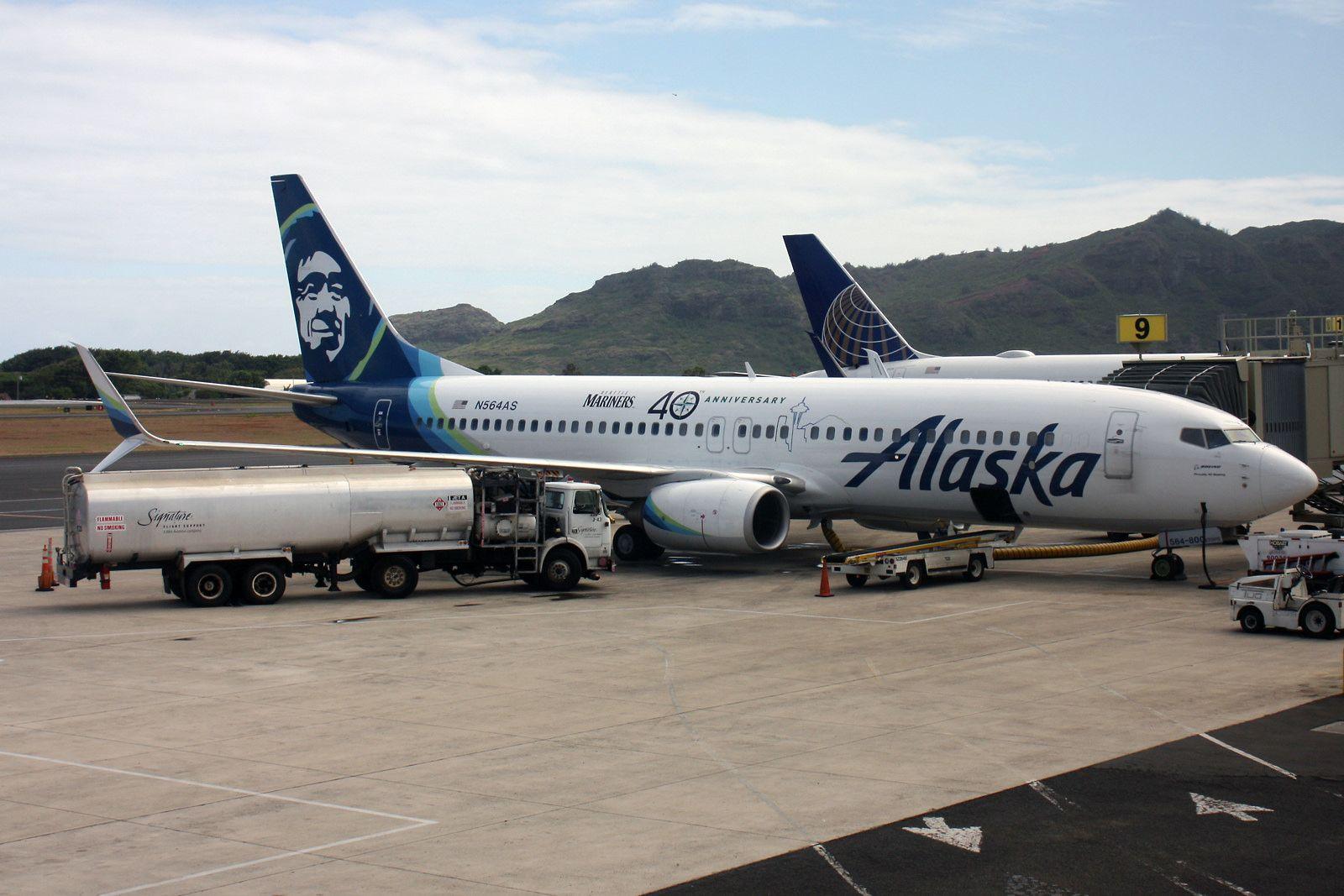 Alaska Airlines Boeing 737 890 N564as Seattle Mariners 40th