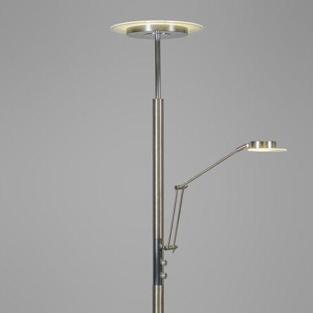 Deckenfluter Luxus Mit Leseleuchte Stahl #Innenbeleuchtung #Stehleuchte  #Light #wohnen #einrichten #