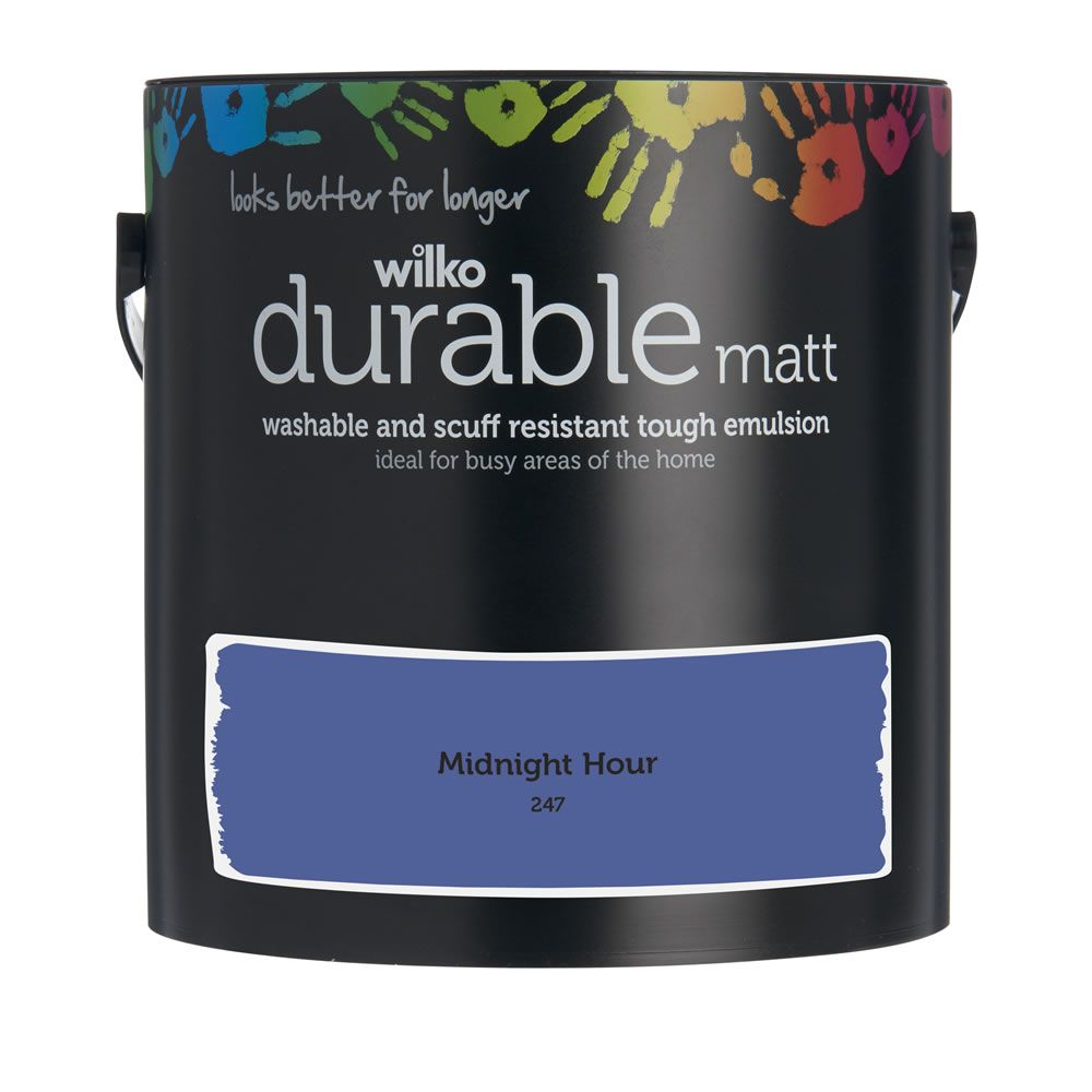 From Midnight To Duck Egg See: Durable Midnight Hour Matt Emulsion Paint 2. 5L