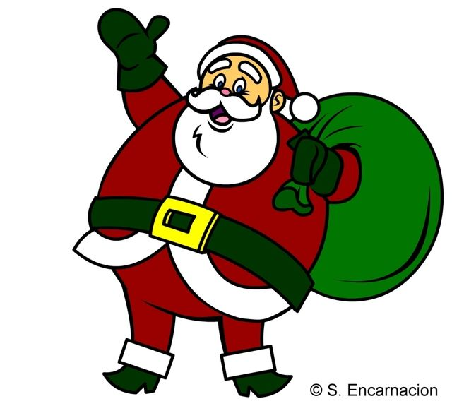 how do yo draw a santa claus cartoon - Pictures Of Santa Claus To Color