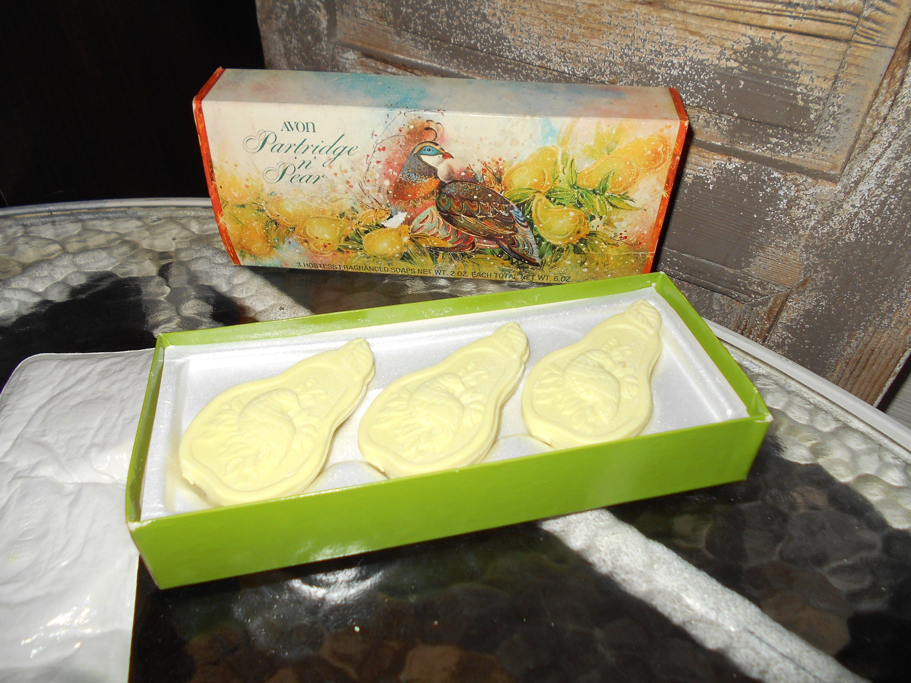 Vintage Avon Soaps Partridge And Pear 3 Hostess Soaps 2 Etsy Vintage Avon Soap Gift Vintage