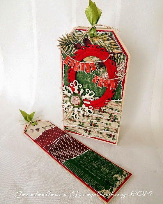 Claralesfleurs Scrapbooking 2014   Carte de Noël avec pochette