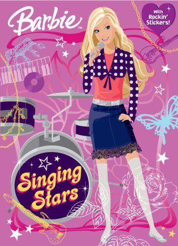 Singing Stars Barbie Super Coloring Book