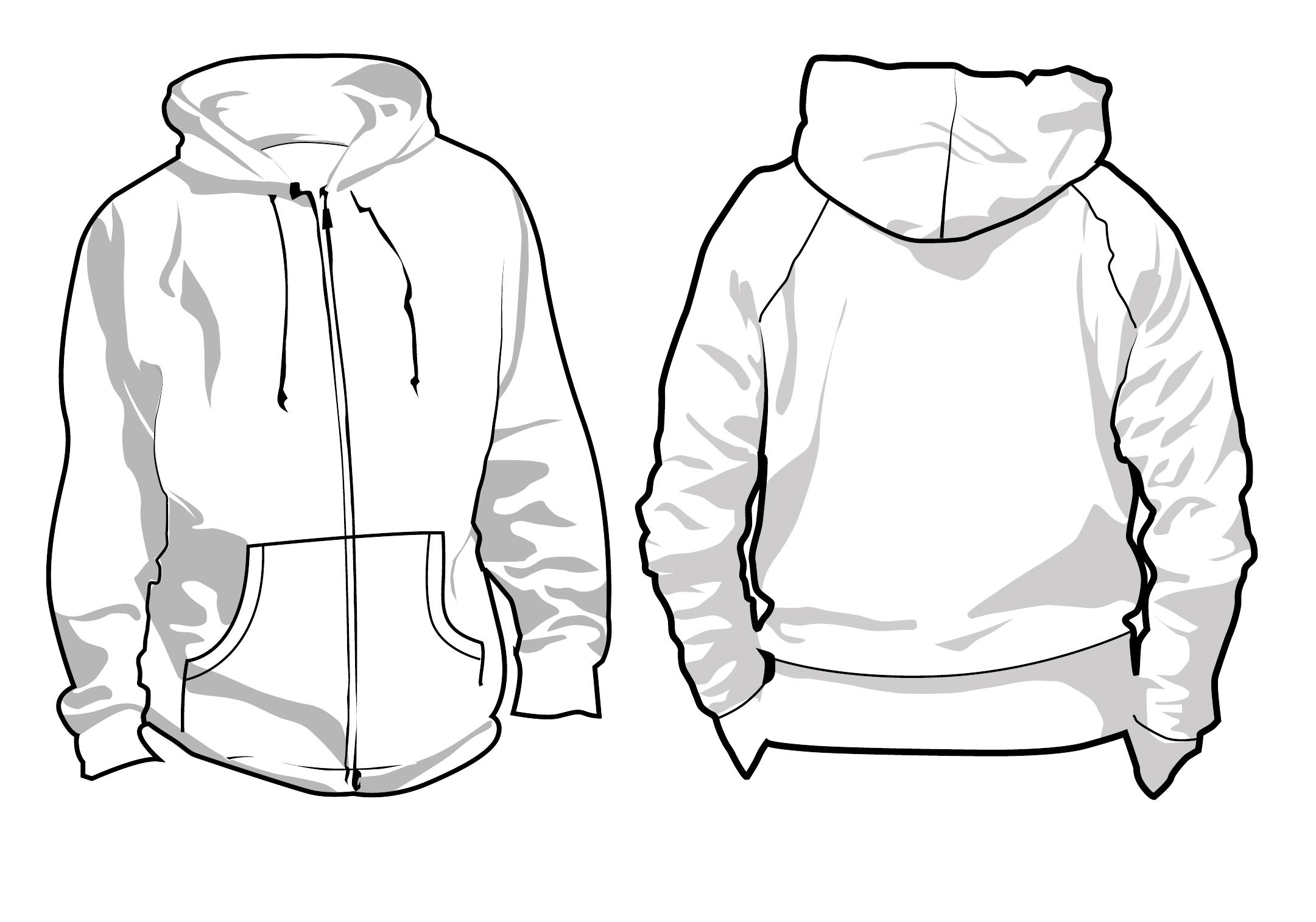 Image Gallery hoodie drawing