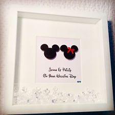 Handmade Personalised Occasion Box Frame Mouse Wedding Engagement Disney Wedding Cards Handmade Disney Wedding Gifts Disney Frames