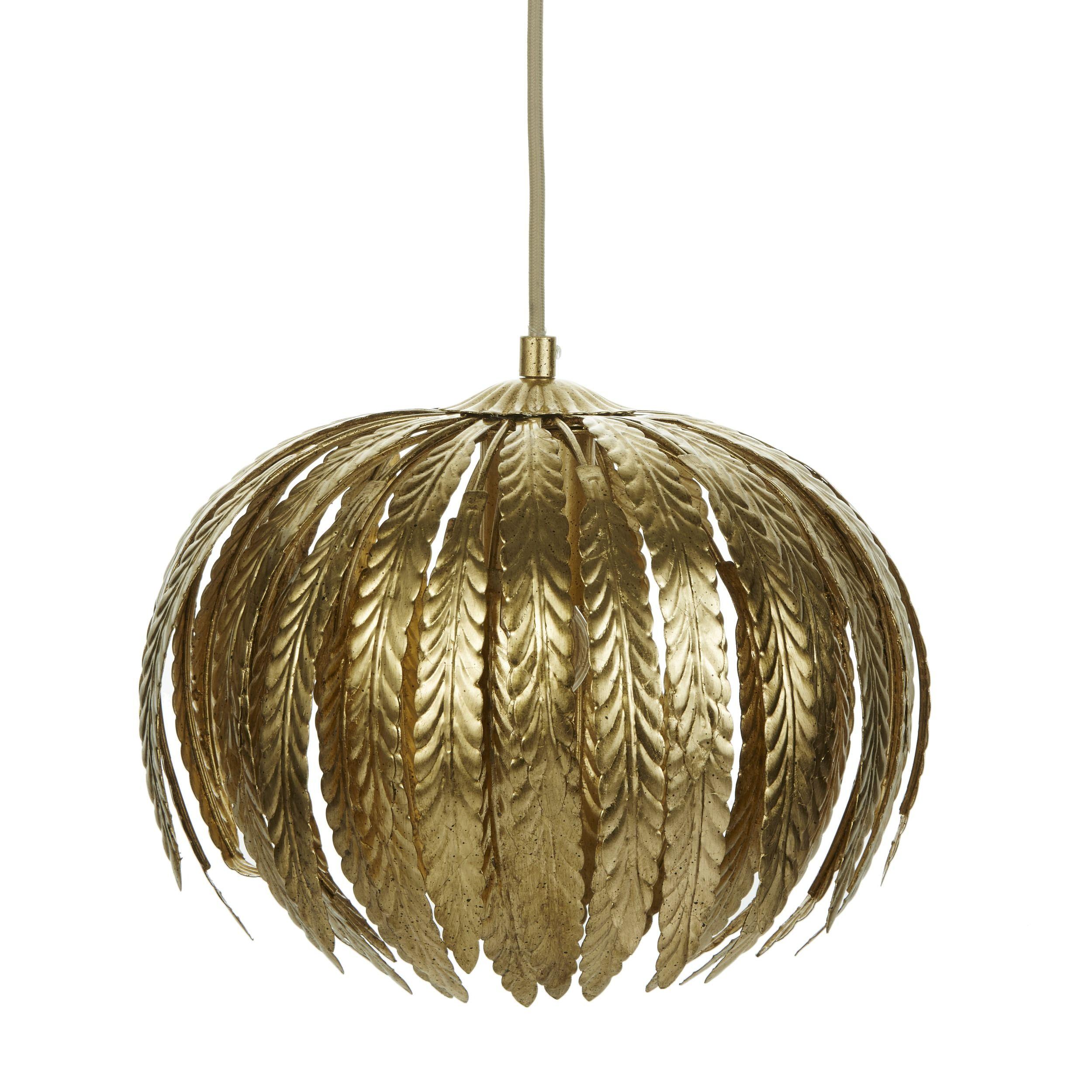 Laura Ashley Lisbeth Gold Leaf Pendant Light