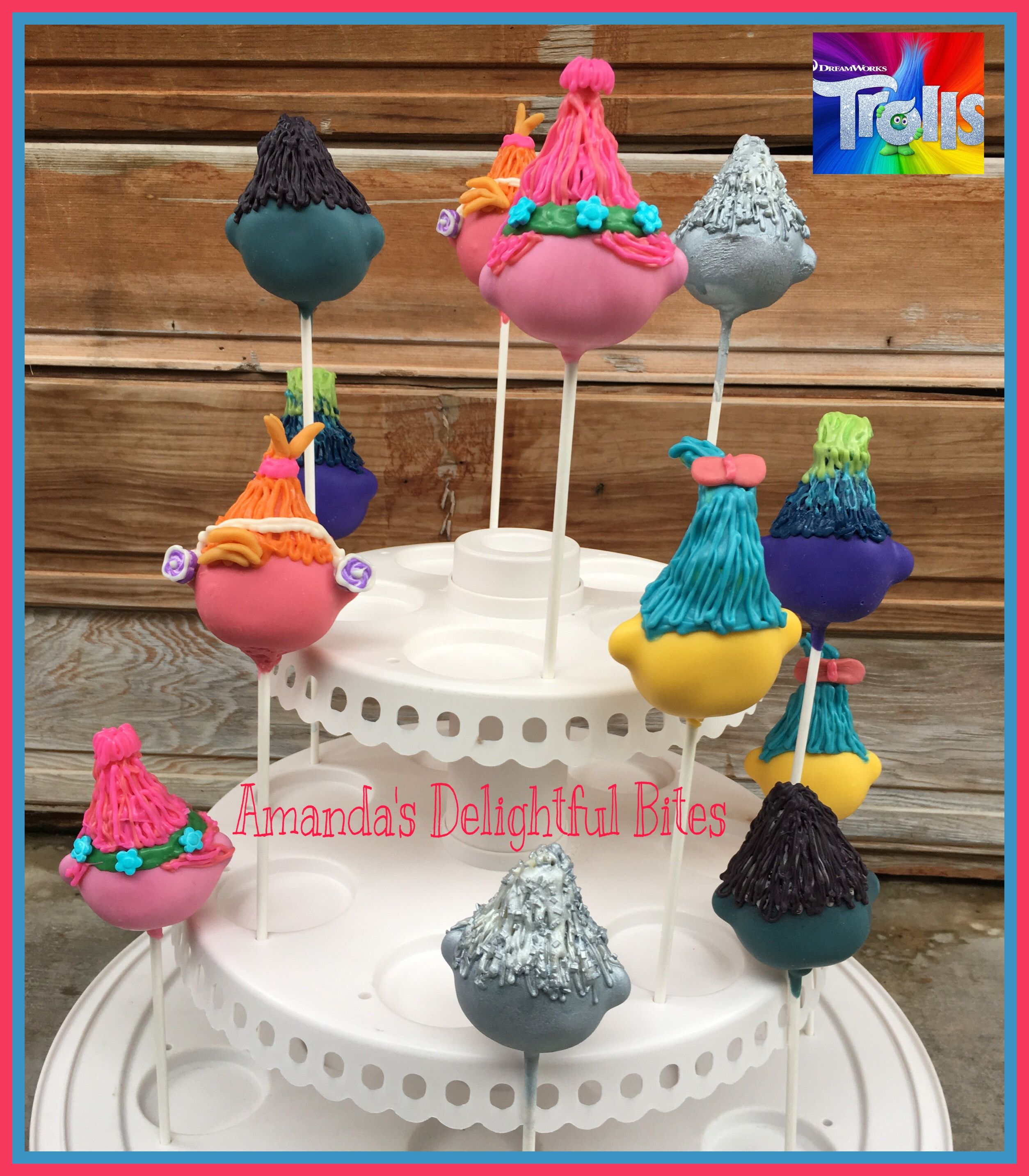 Troll Hair Inspired Cake Pops