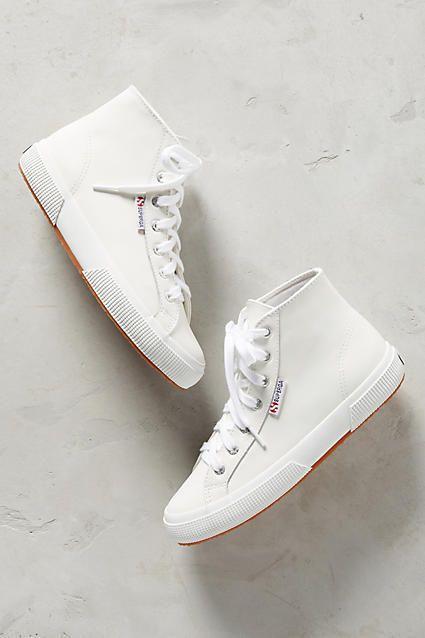 aad4127066da Superga Leather High-Top Sneakers