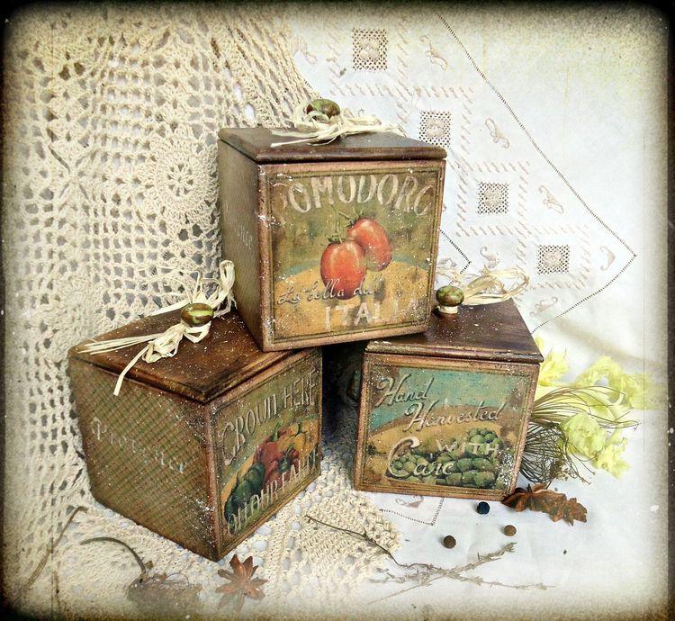 Elen78 | Украсить коробку, Декупаж