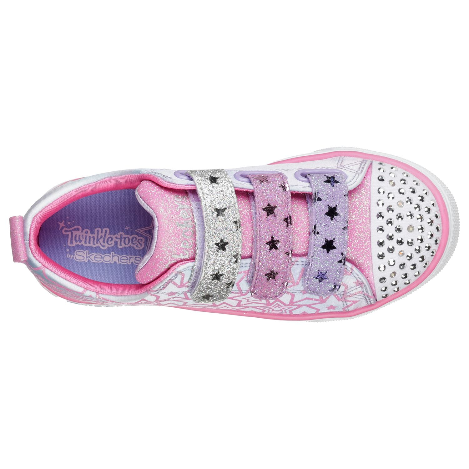 Skechers Twinkle Toes Twinkle Breeze 2.0 Sparkle Dust Girls ...