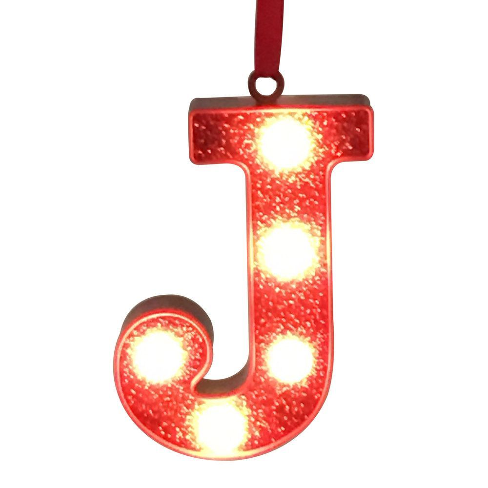 St nicholas square red glitter lightup marquee letter christmas