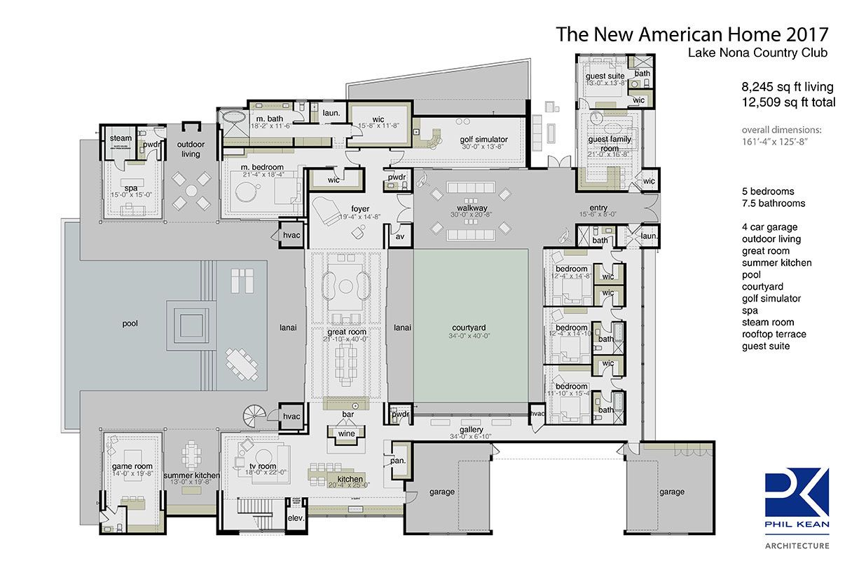 Modern Architecture Orlando nahb: modern contemporary house plan. new american home 2017