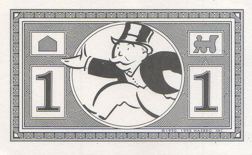 Monopoly Money - junior $1 by Eli the Bearded, via Flickr - play money template