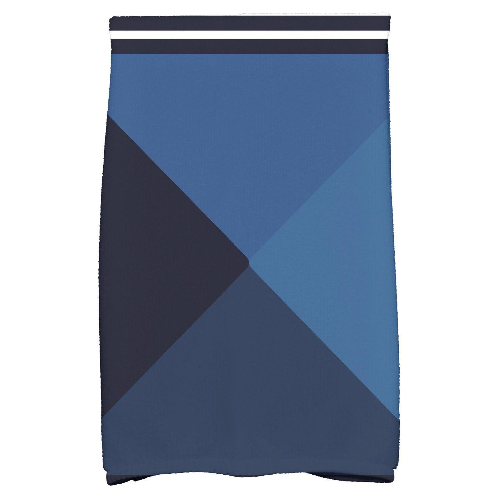 E by design nautical angles geometric print kitchen towel