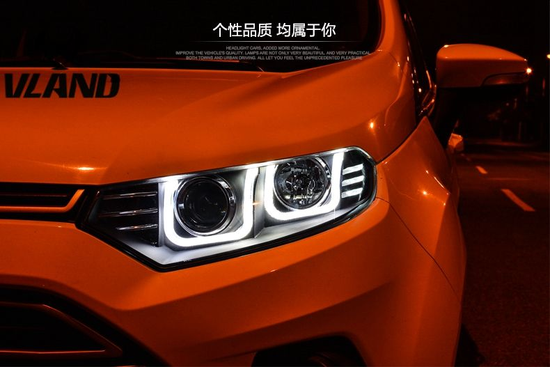 Free Shipping Vland Factory Headlamp For Ecosport Headlight 2013