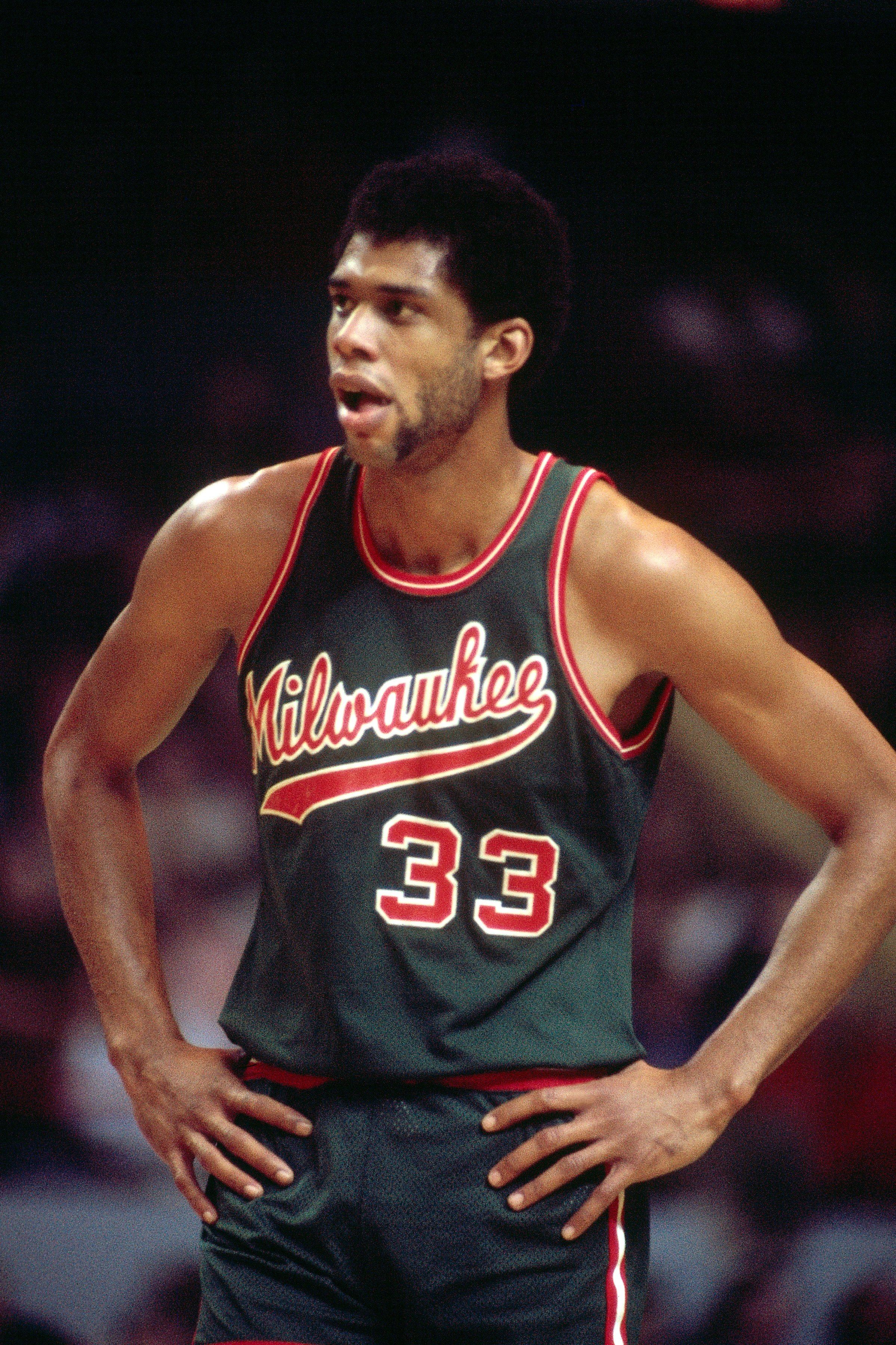 half off 3cddf 3dae3 Kareem Abdul-Jabbar Milwaukee Bucks Canter | NBA Legends ...