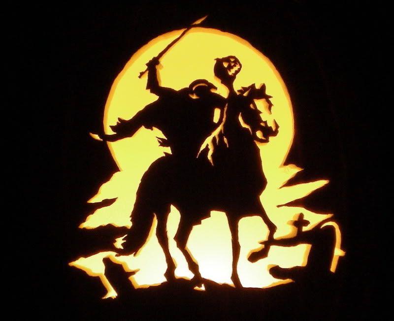 Headless Horseman Jack O Lantern Headless Horseman Halloween Creepy Pumpkin Halloween Stencils