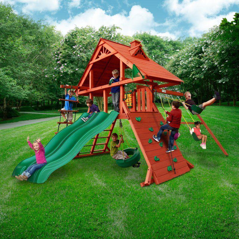 Sun Palace Extreme Swing Set | Wooden swings, Backyard ...