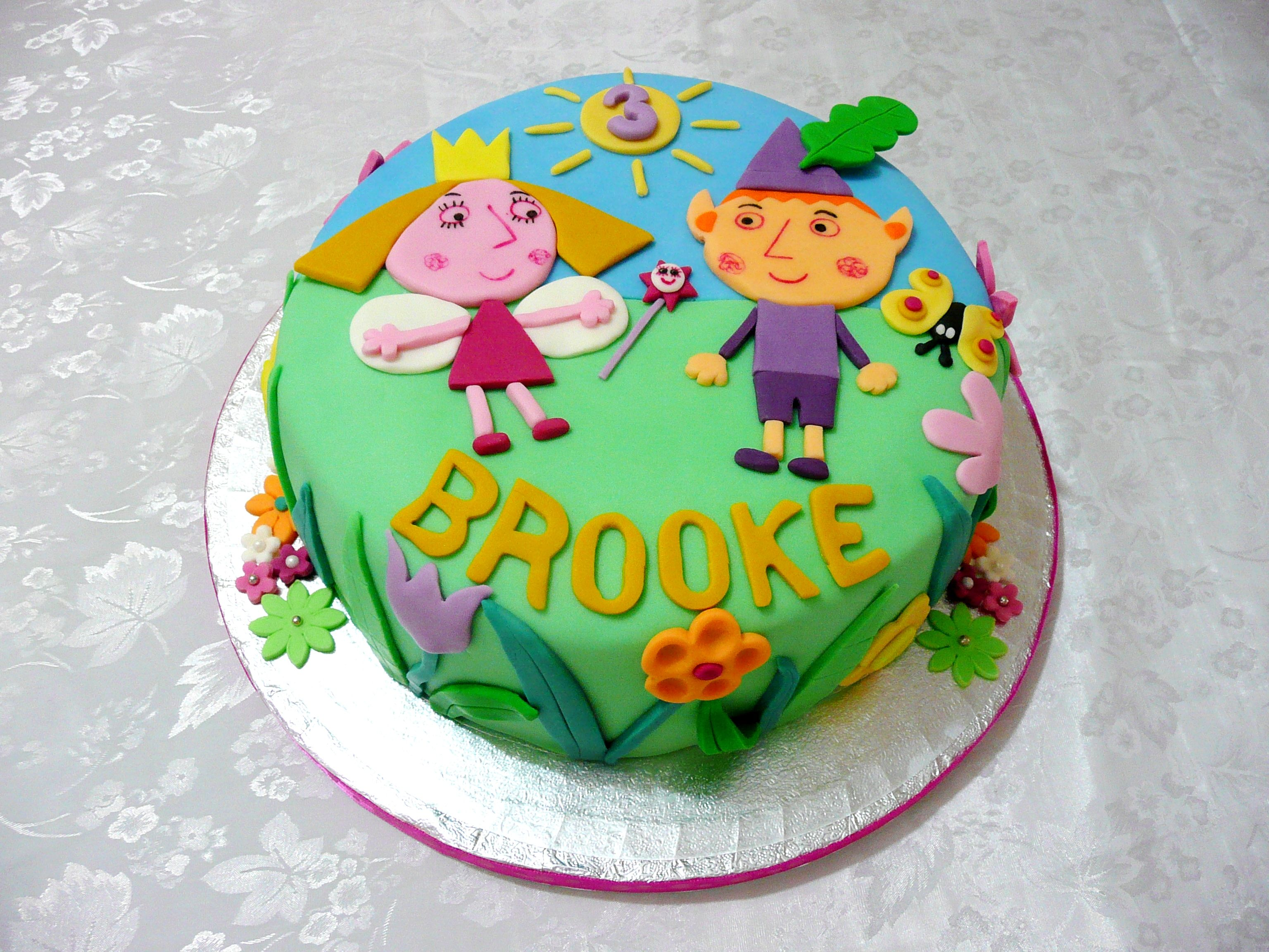 Ben Holly Little Kingdom Cake Ben And Holly Cake Fairy Cakes