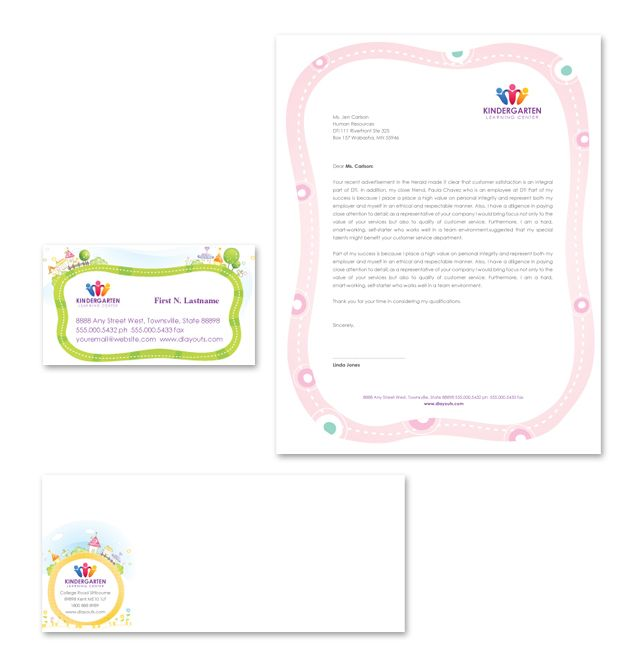 Kindergarten Stationery Kits Template HttpWwwDlayoutsCom