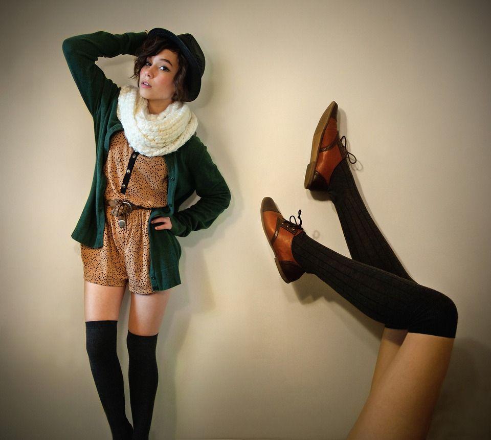 Calcetas Medias Over Knee Las Originales Vintage Importacion MLM Cute Winter OutfitsWinter