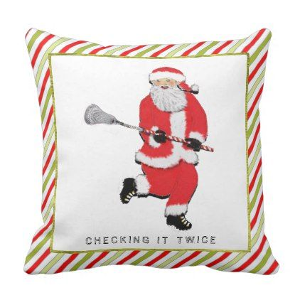 f1e8f04ed0 #Lacrosse Christmas Throw Pillow - #Xmas #ChristmasEve Christmas Eve  #Christmas #merry #xmas #family #holy #kids #gifts #holidays #Santa